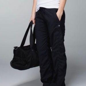 Lululemon Dance Studio Black Pants Lined Sz 6